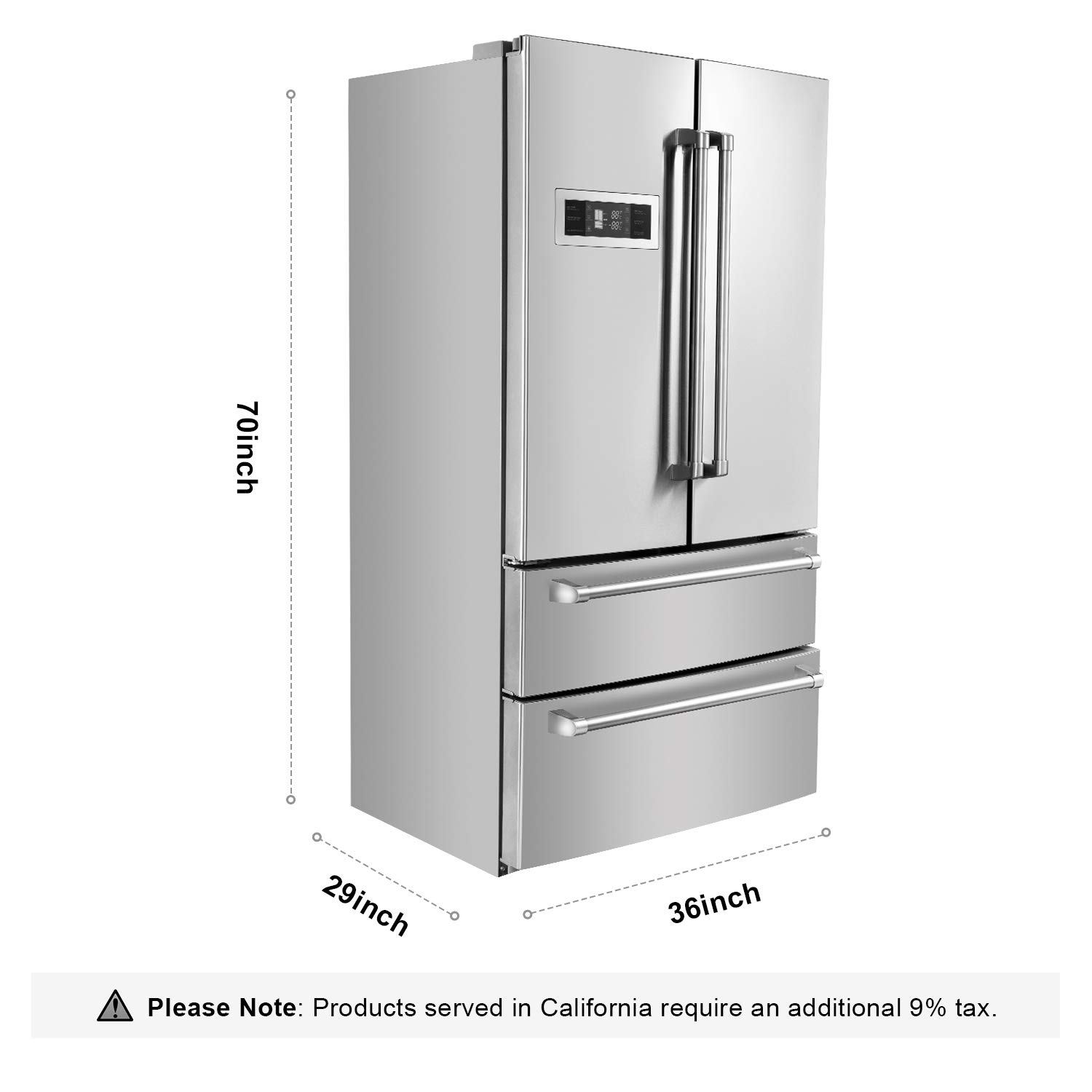 Thor Kitchen 36 Inch Counter Depth French Door Refrigerator | SBW