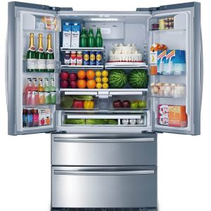 36 Inch Stainless Steel Counter Depth French Door Refrigerator