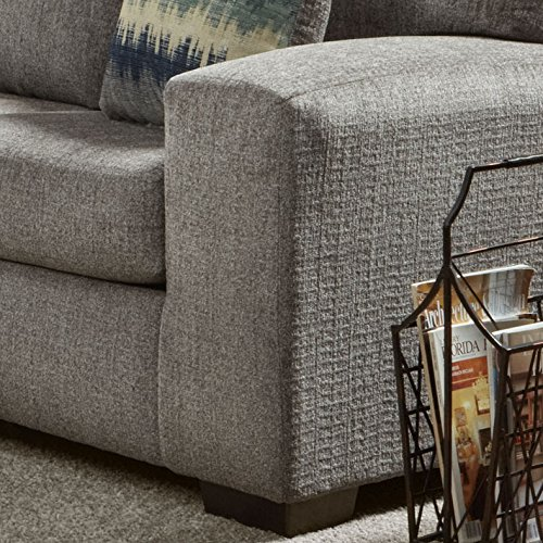 Roundhill Furniture Bergen Fabric Sectional Sofa