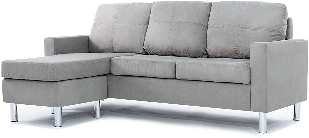 Divano Roma Modern Sectional Grey