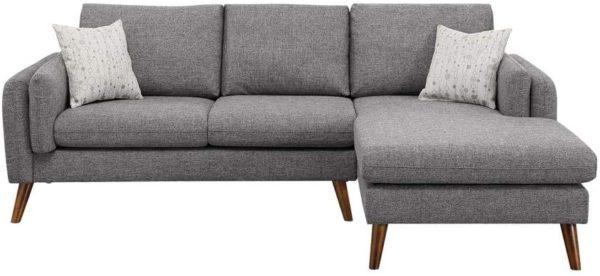 LILOLA Founders Fabric Sectional Sofa Light Gray
