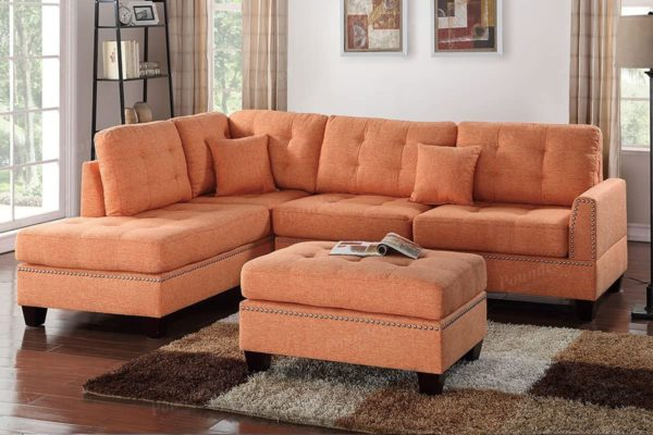 Poundex PDEX- Upholstered Sofas/Sectionals/Armchairs, Citrus