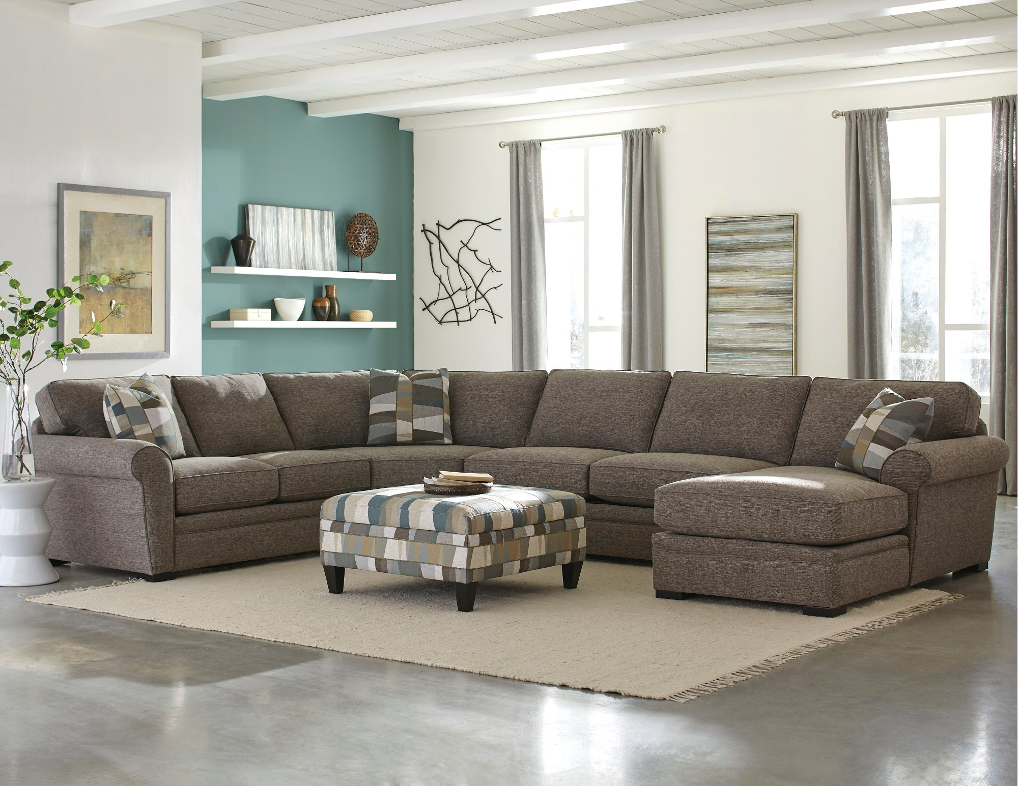 Brown-4-Piece-Sectional-Sofa-with-RAF-Chaise---Orion-rcwilley-image1