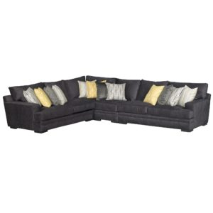 Contemporary Charcoal Gray 4 Piece Sectional Sofa – Piccolo