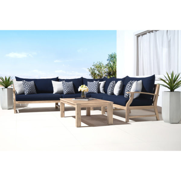 Kooper 6 Piece Sectional - Navy Blue