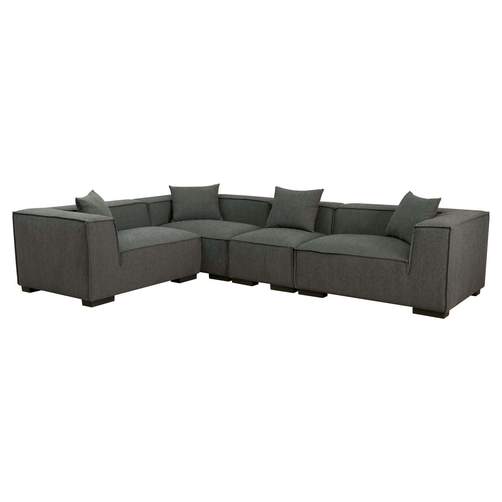 Furniture of America Boyett Sectional Sofa with Pillows