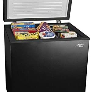 5cf Chest Freezer Deep 5 Cu Ft Compact Dorm Upright Apartment Home Food Storage Compact Space Saving Energy Efficient