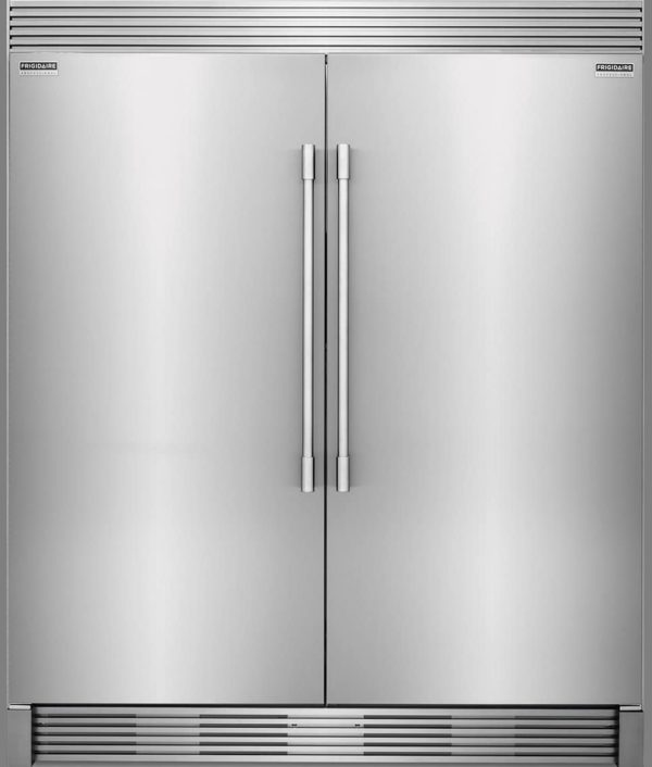 Frigidaire PROFESSIONAL Stainless Steel Refrigerator Freezer Combo & Trim FPRU19F8RF FPFU19F8RF TRIMKITEZ2