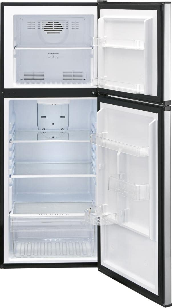 Haier HA10TG21SS 24 Inch Freestanding Counter Depth Top Freezer Refrigerator (Stainless Steel)