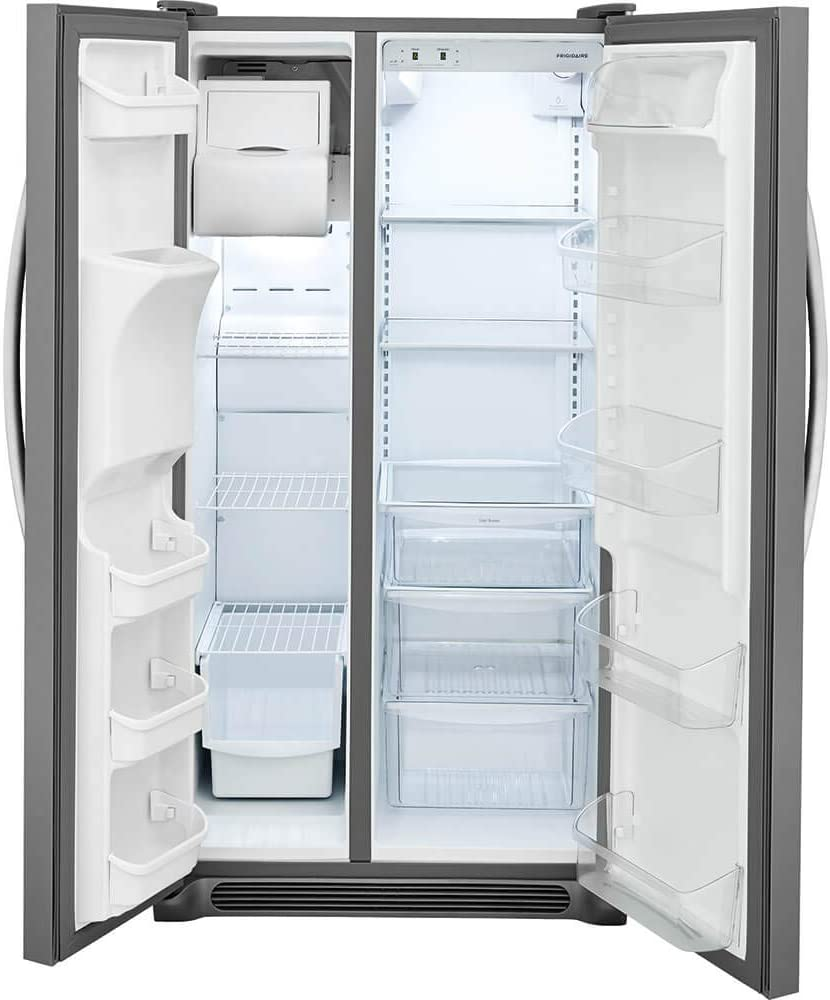 FRIGIDAIRE, Stainless Steel FFSS2315TS 33 Inch Side Refrigerator with 22.1 cu. ft. Capacity