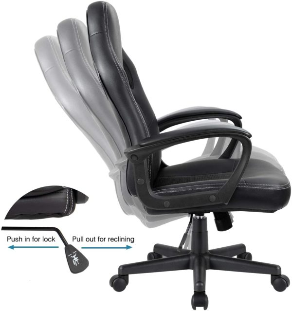 Furmax Office Chair Desk Leather Gaming Chair,