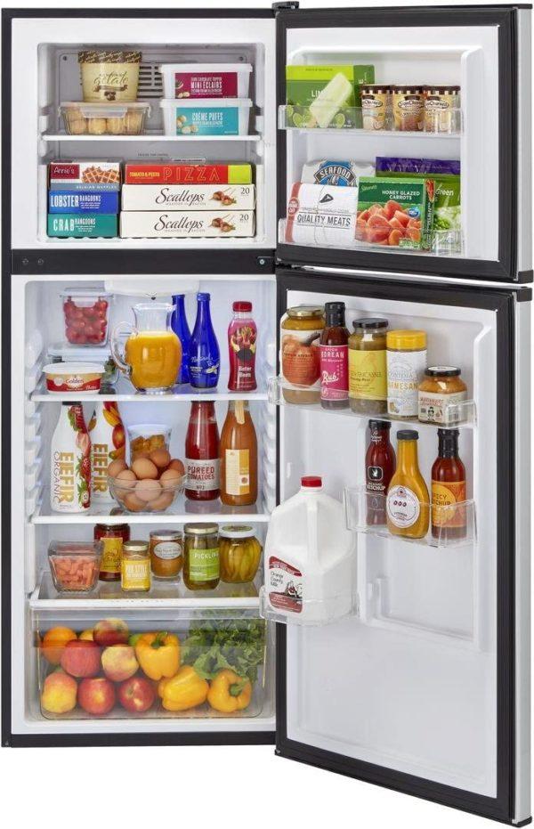 Haier HA10TG21SS 24 Inch Freestanding Counter Depth Top Freezer Refrigerator (Stainless Steel)