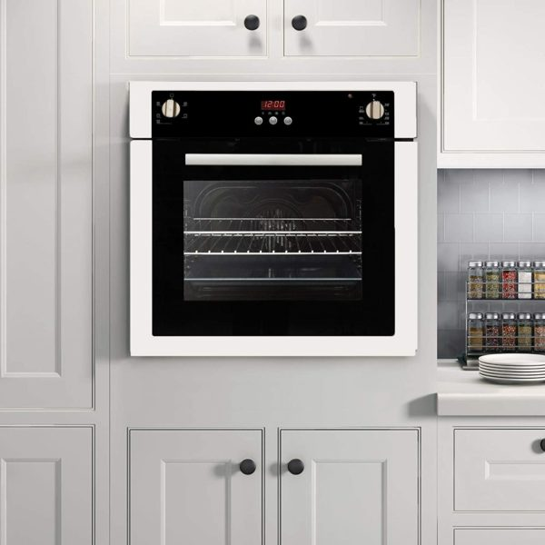 Cosmo C51EIX 24 in. Single Electric Built-In Wall Oven with 2 cu. ft. Capacity, Turbo True European Convection, 5 Functions in Stainless Steel, 24 inch