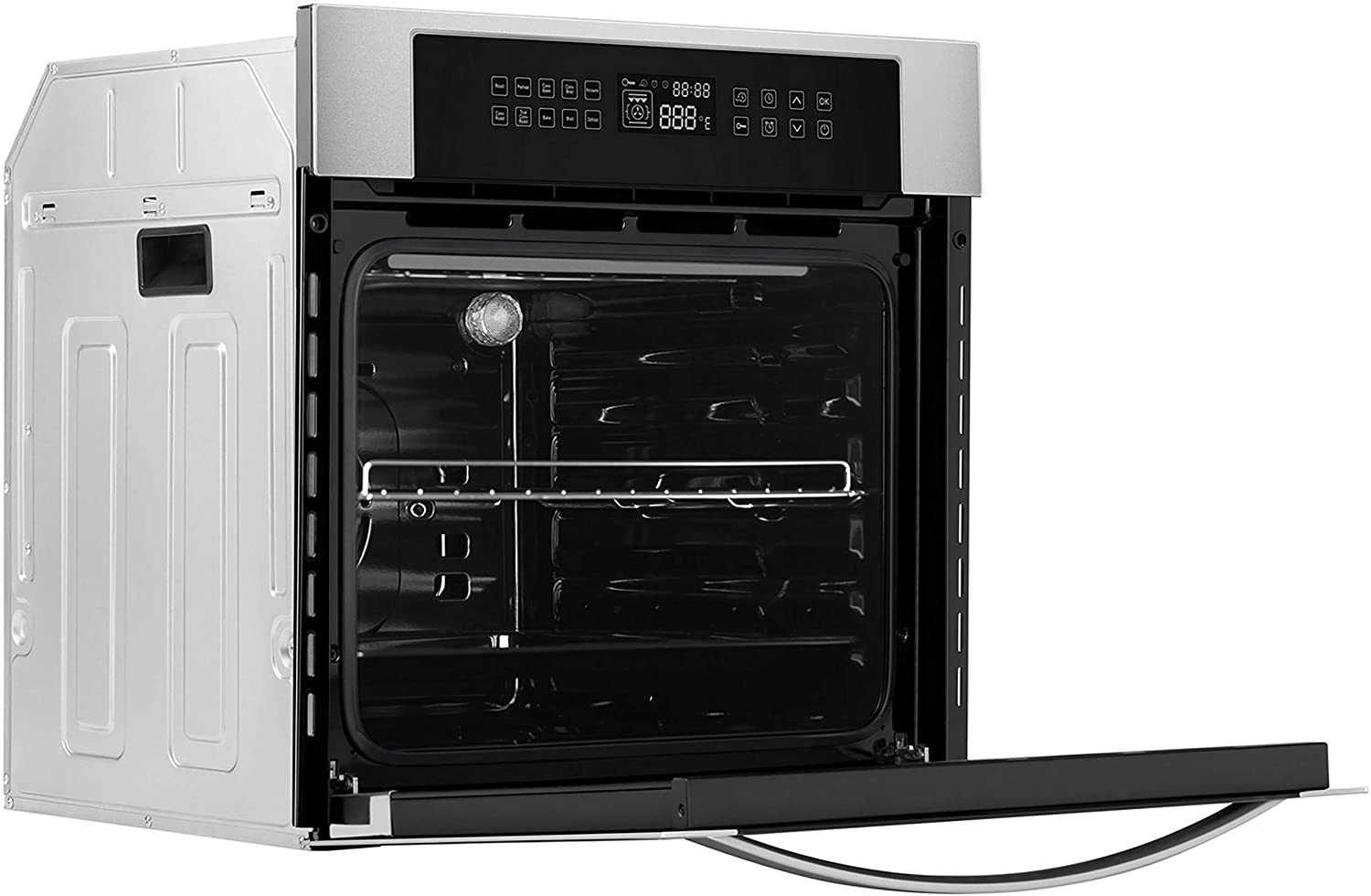 "Empava 24"" 10 Cooking Functions W/ Rotisserie Electric LED Digital Display Touch Control Built-in Convection Single Wall Oven EMPV-24WOC02"