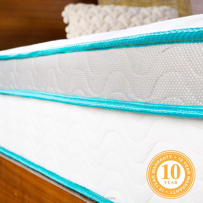Linenspa Memory Foam and Innerspring Hybrid Mattress - Medium Feel - Twin,10 Inch