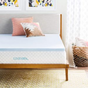 LINENSPA 2 Inch Gel Infused Memory Foam Mattress Topper, Twin