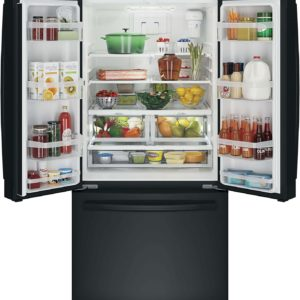 GE GWE19JGLBB French Door Refrigerator