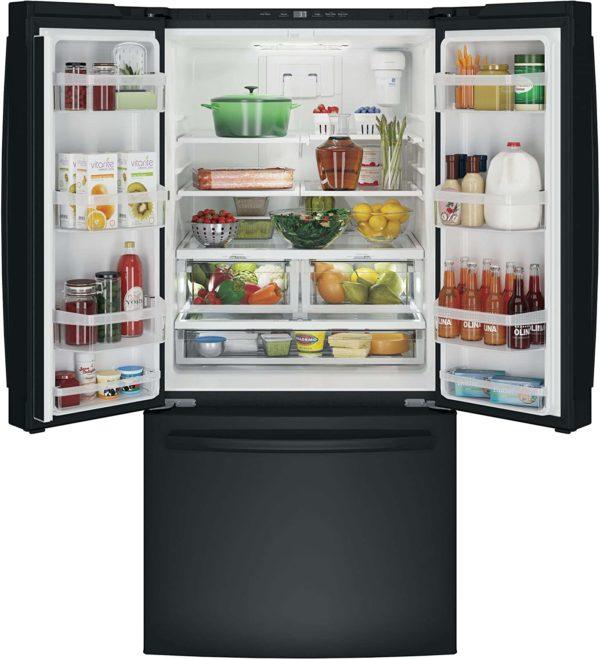 GE GWE19JGLBB French Door Refrigerator