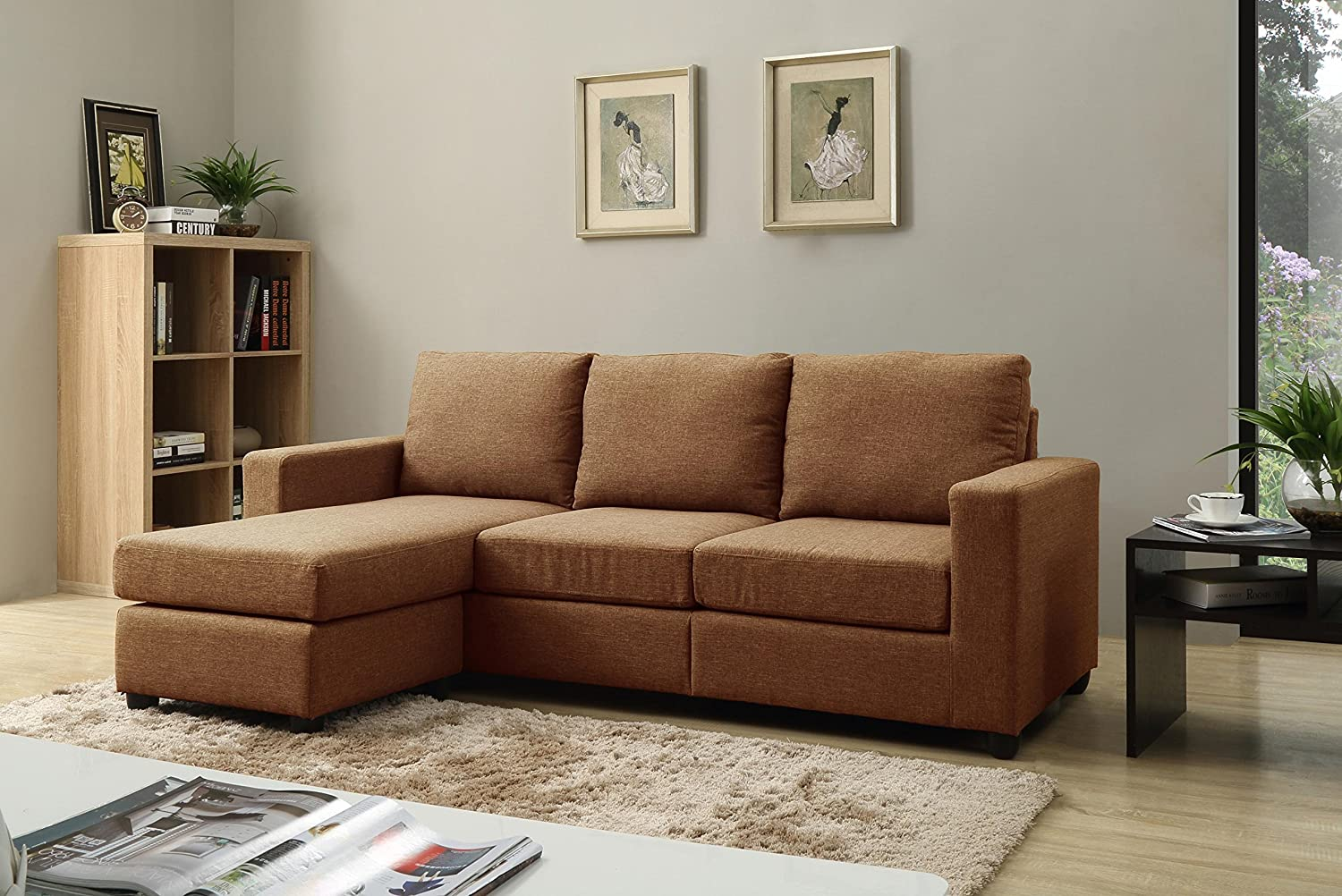 NHI Express Alexandra Convertible Sectional, Brown