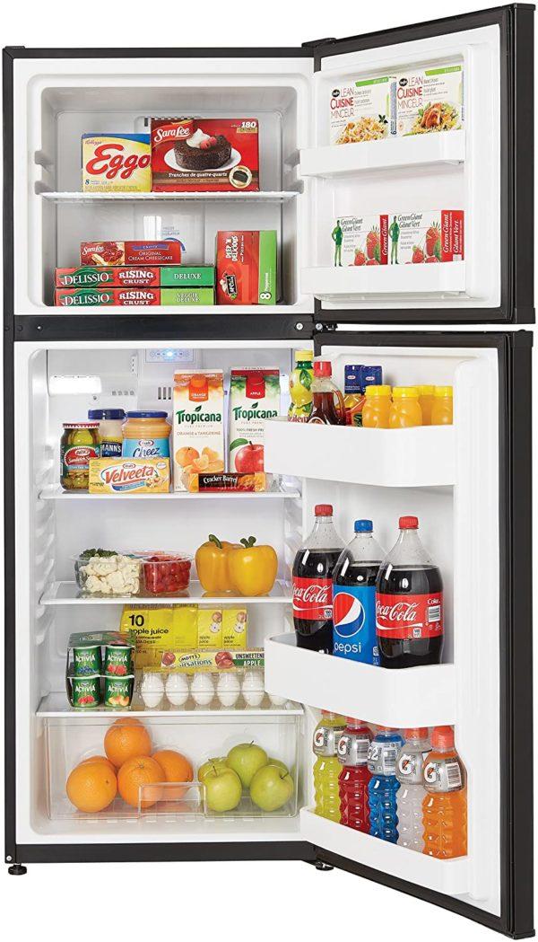 Danby DFF100C1BDB 10.0 cu.ft. Two Door Apartment Size Refrigerator, Black