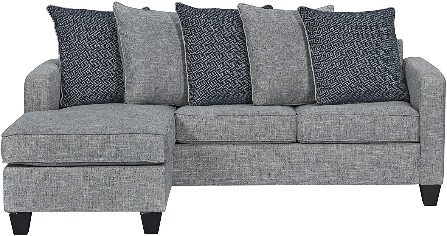 "Ready To Live 57th Street Sofa Sectional, 81"", Light Grey"