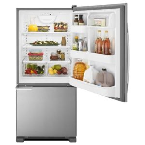 Amana 18.7 cu. ft. Bottom Freezer Refrigerator - 30 Inch Stainless Steel