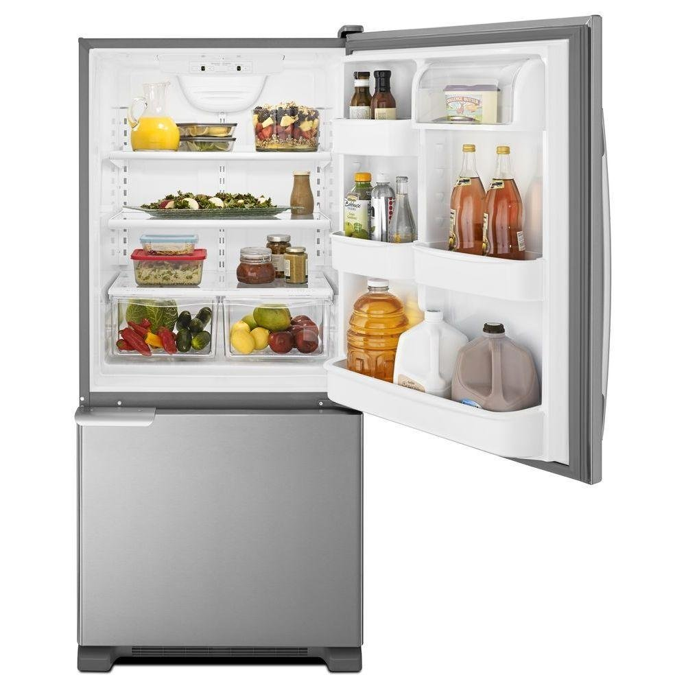 Amana 18.7 cu. ft. Bottom Freezer Refrigerator - 30 Inch Stainless Steel