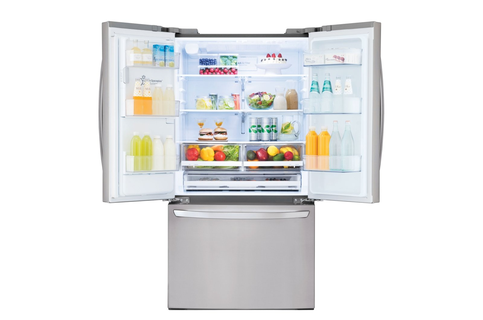 LG 26.2 cu. ft. French Door Smart Refrigerator - 36 Inch Stainless Steel