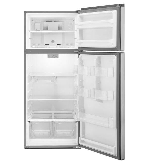 Whirlpool 28 Inch Top Freezer Refrigerator - 18 cu. ft., Stainless Steel