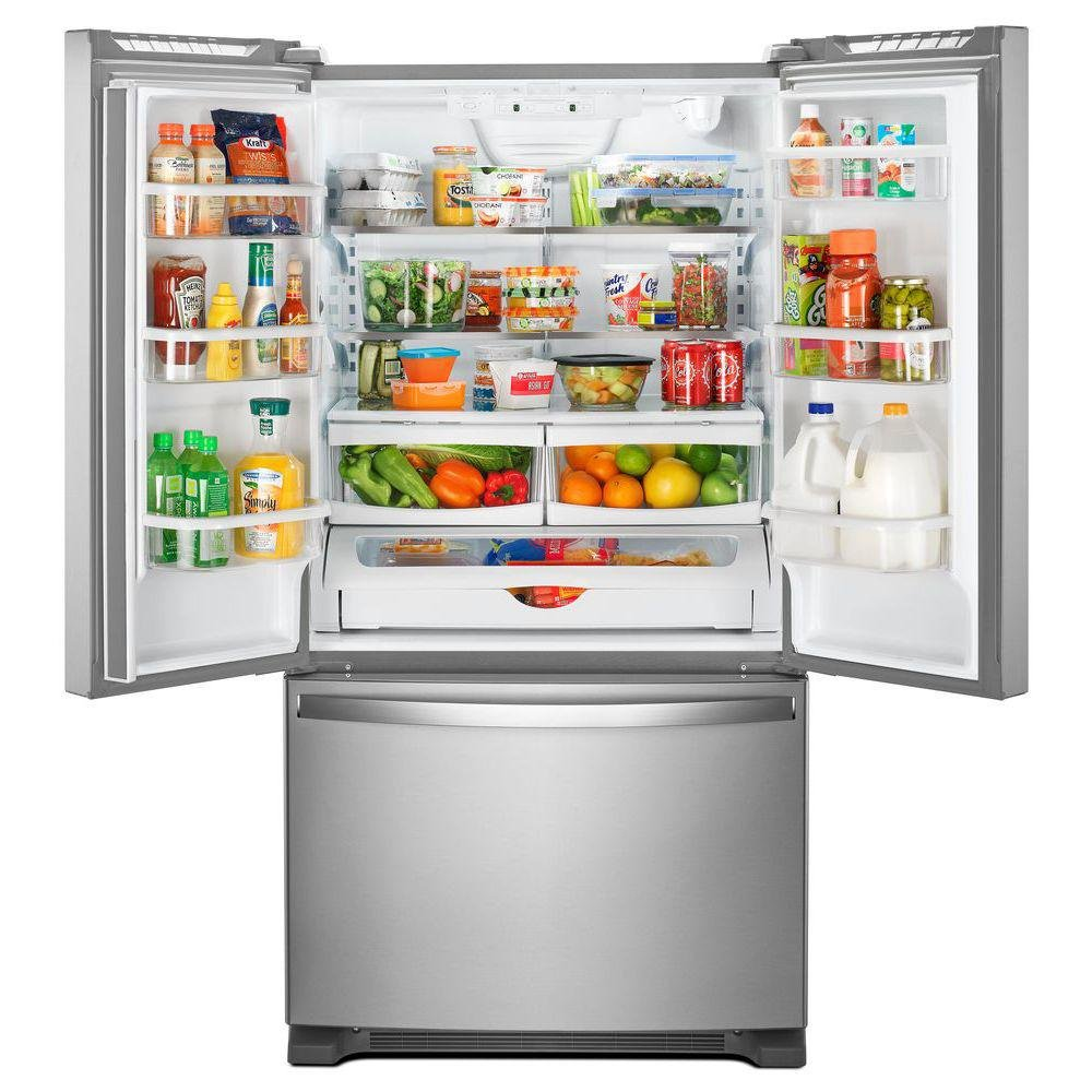 Whirlpool 36 Inch French Door Refrigerator - 25 cu. ft., Stainless Steel