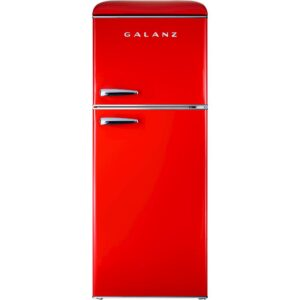 Galanz GLR46TRDER Retro Refrigerator, 4.6 Cu Ft, Red