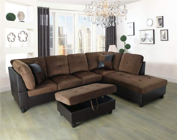 Ainehome 3 PCS Living Room Set, Sectional Sofa Set