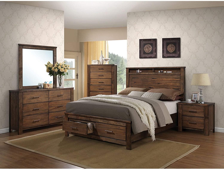 Cottage Creek Crescent Queen 4 Piece Solid Wood Farmhouse Bedroom Set Assembled Bedroom Sets Home Kitchen