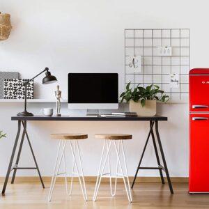 Galanz GLR46TRDER Retro Refrigerator, 4.6 Cu Ft, Red