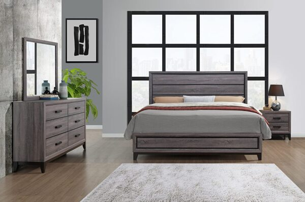 Global Furniture USA QB Kate Bed, Queen, Grey