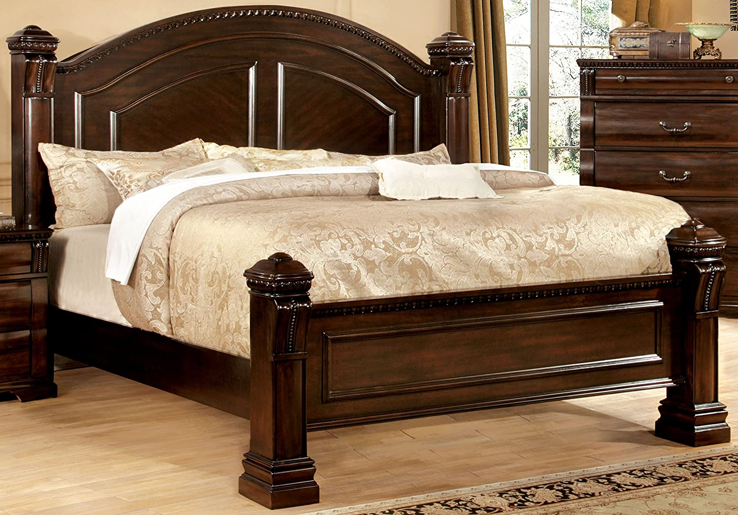 Furniture of America Lexington Low-Poster Bed, Eastern King, Cherry