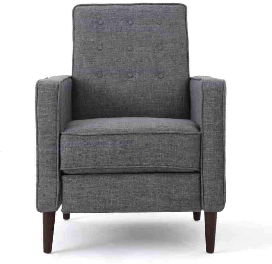 Christopher Knight Home Mervynn Mid-Century Modern Fabric Recliner, Grey