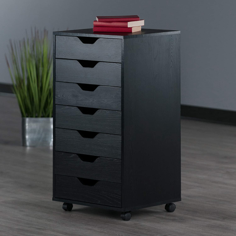 Winsome Halifax Storage/Organization 7 drawer Black