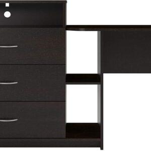 Ameriwood Home Rebel Media Dresser and Desk, Espresso