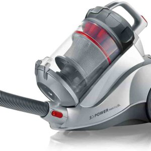 Severin Germany Nonstop Corded Bagless Canister Vacuum Cleaner, Polar Silver