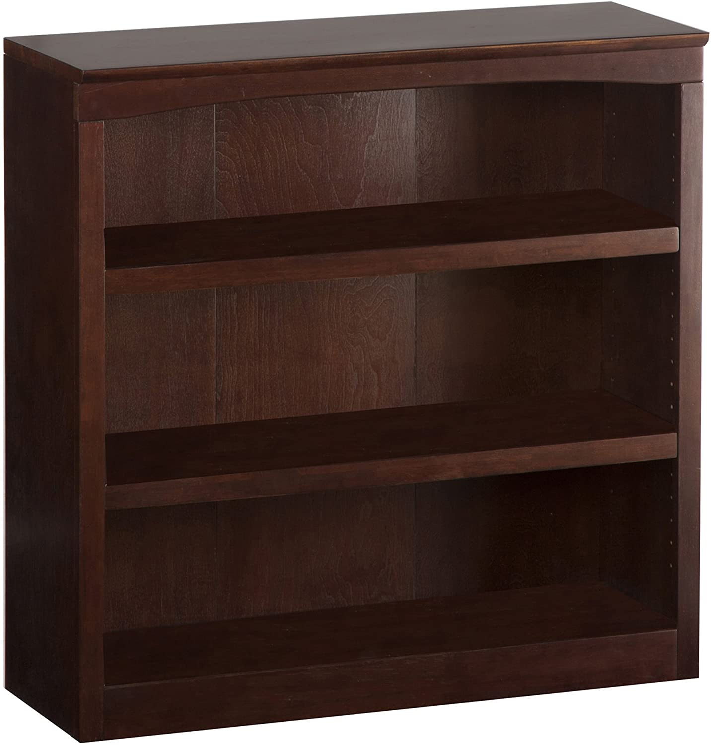 Atlantic Furniture Harvard Book Shelf, Antique Walnut, 36-Inch