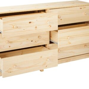 Ikea TARVA TARVA Ikea 6 Drawer Chest, Solid Wood Pine