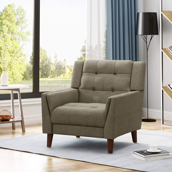 Christopher Knight Home 305541 Evelyn Mid Century Modern Fabric Arm Chair
