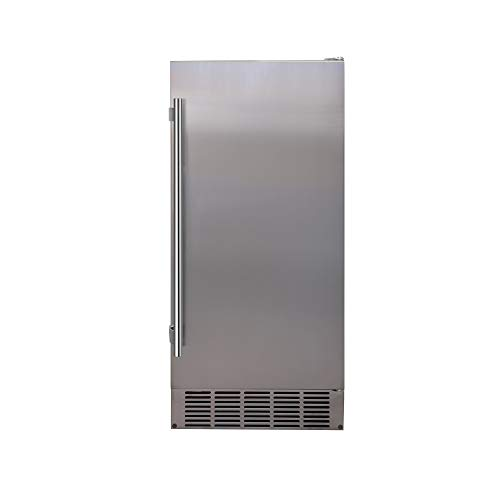 EdgeStar IB250SS 15 Inch Wide 20 Lb. Built-In Ice Maker with 25 Lbs. Daily Ice Production
