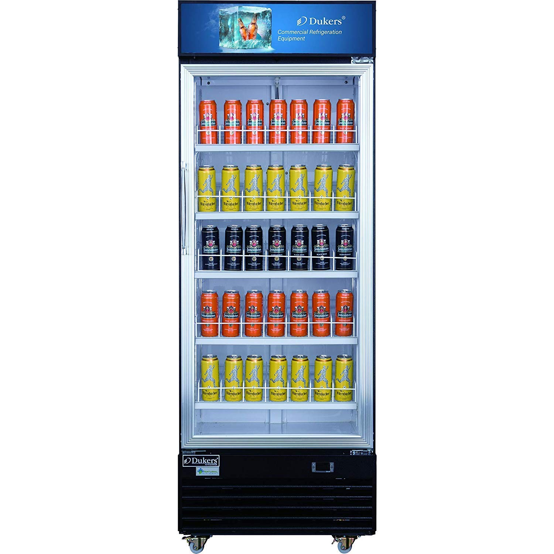 Dukers DSM-19R 18.7 cu. ft. Commercial Display Cooler Merchandiser Refrigerator