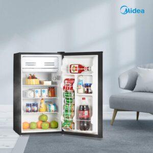 Midea WHS-121LB1 Refrigerator, 3.3 Cubic Feet, Black