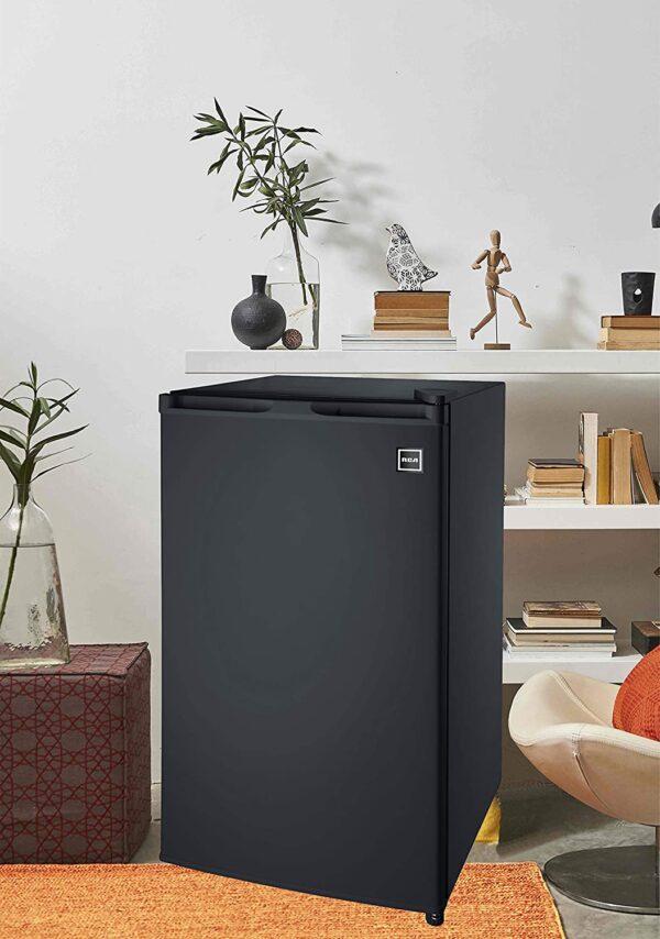 RCA RFR320 Single Door Mini Fridge with Freezer, 3.2 Cu. Ft. capacity – Black