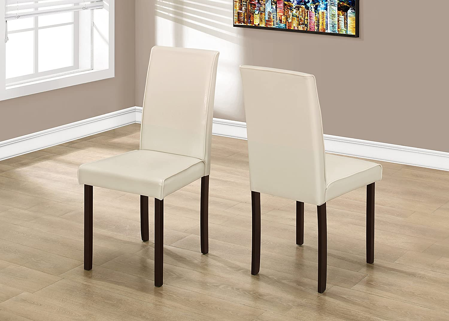 """Monarch Dining Chair, Ivory, 36"""""""