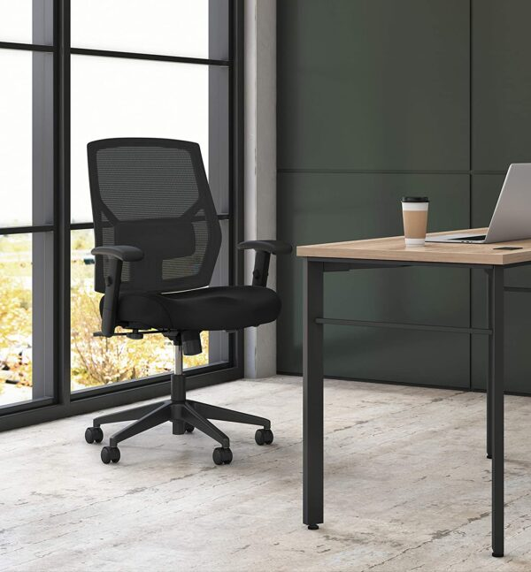 HON Crio High-Back Task Chair - Fabric Mesh Back Computer Chair for Office Desk, in Black (HVL581)